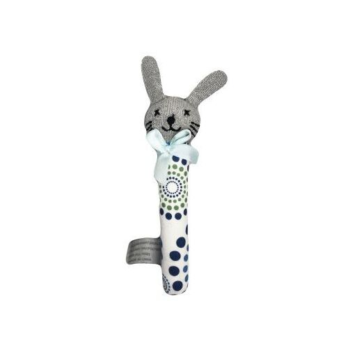 Bunny Rattle SML-blue/green